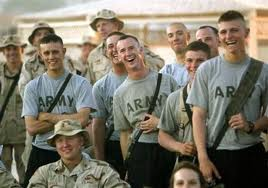 Soldiers lAUGHING